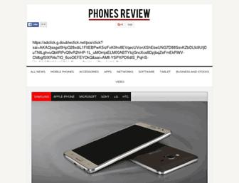 Main page screenshot of phonesreview.co.uk