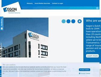 aegon.com screenshot