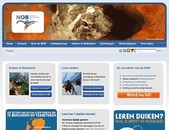 Main page screenshot of onderwatersport.org
