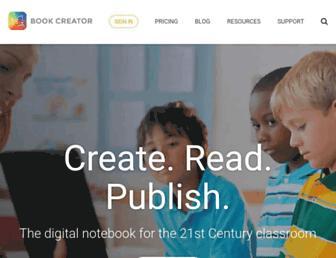 bookcreator.com screenshot