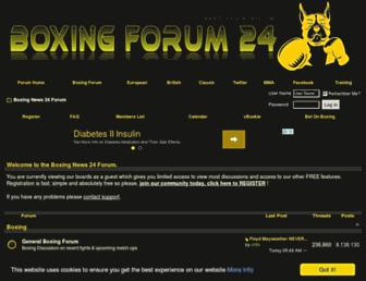 boxingforum24.com screenshot