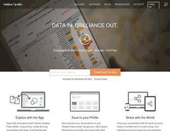 public.tableau.com screenshot