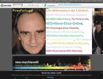 Main page screenshot of neo-machiavelli.ilcannocchiale.it