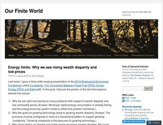 Thumbshot of Ourfiniteworld.com