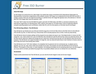 freeisoburner.com screenshot