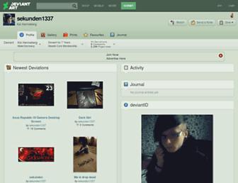 sekunden1337.deviantart.com screenshot