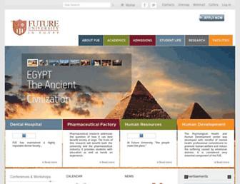 fue.edu.eg screenshot