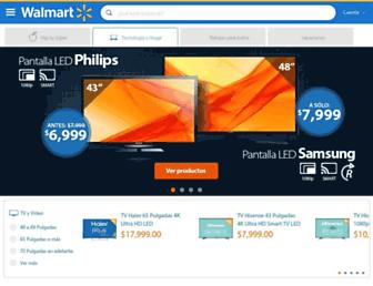Main page screenshot of wal-mart.com.mx
