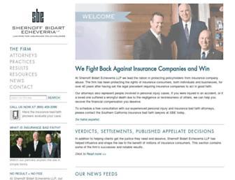 shernoff.com screenshot