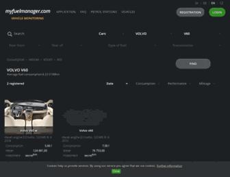 volvo-v60.myfuelmanager.com screenshot