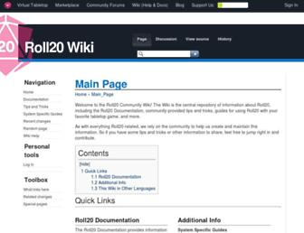 wiki.roll20.net screenshot