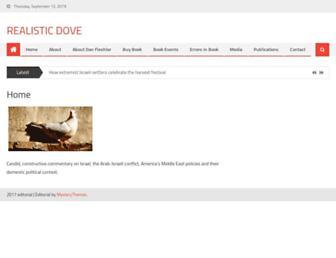 Main page screenshot of realisticdove.org