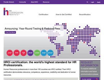 hrci.org screenshot