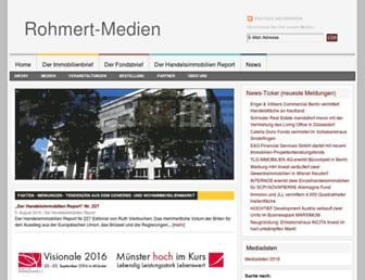 Main page screenshot of rohmert-medien.de