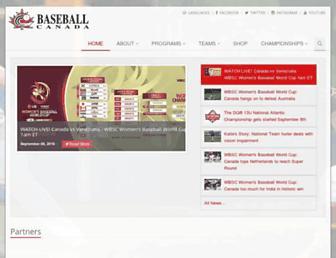 baseball.ca screenshot