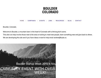 Main page screenshot of boulder.me