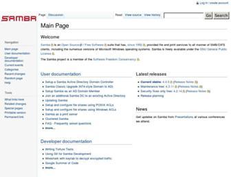 wiki.samba.org screenshot