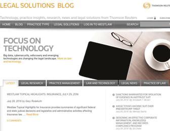 blog.legalsolutions.thomsonreuters.com screenshot