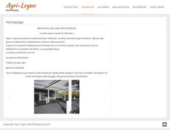 Main page screenshot of agri-legno.it