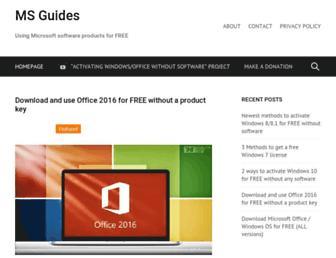 msguides.com screenshot