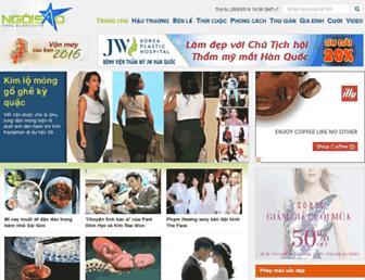 Main page screenshot of ngoisao.net