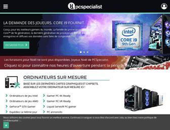 pcspecialist.fr screenshot
