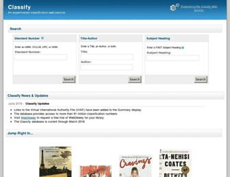classify.oclc.org screenshot