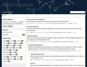 forum.processing.org screenshot