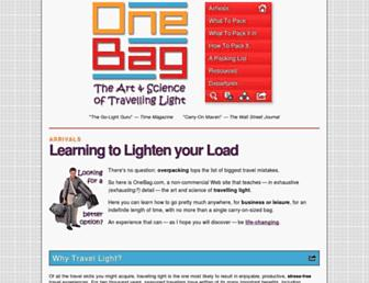 onebag.com screenshot