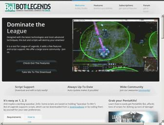 Thumbshot of Botoflegends.com