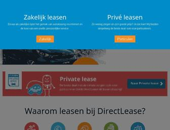 Main page screenshot of directlease.nl
