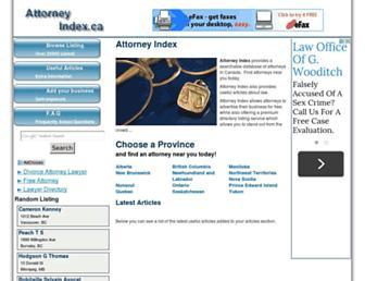 attorneyindex.ca screenshot