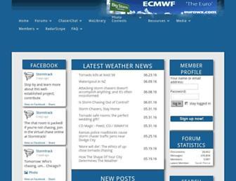 Main page screenshot of stormtrack.org