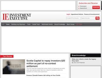investmentexecutive.com screenshot