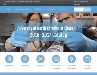 catalog.unc.edu screenshot