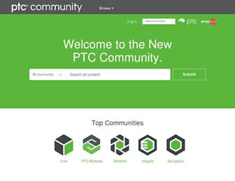 community.ptc.com screenshot