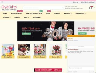oyegifts.com screenshot