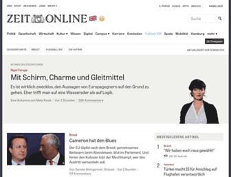 Main page screenshot of zeit.de