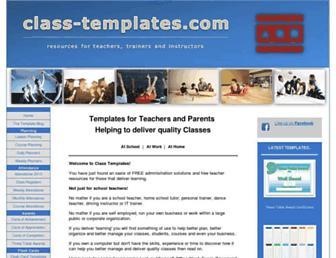 class-templates.com screenshot