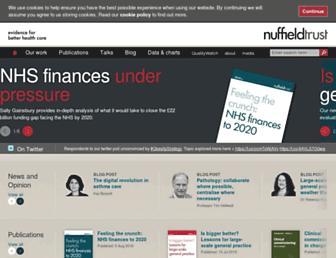 nuffieldtrust.org.uk screenshot