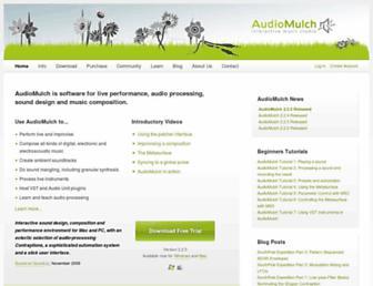 audiomulch.com screenshot