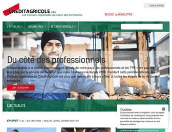 Main page screenshot of creditagricole.info