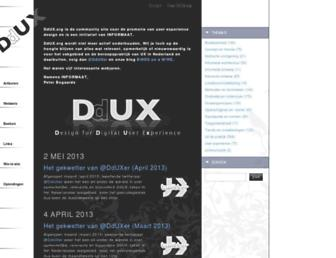 Main page screenshot of ddux.org