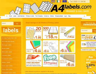 a4labels.com screenshot