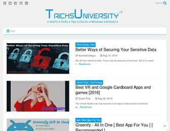 tricksuniversity.in screenshot