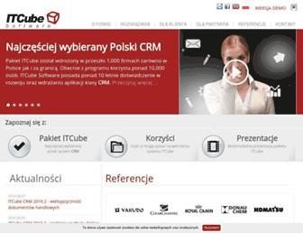 Main page screenshot of itcube.pl