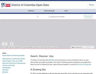 data.dc.gov screenshot