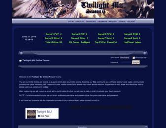 forum.twilightmu.com screenshot