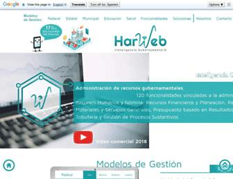 harweb.mx screenshot