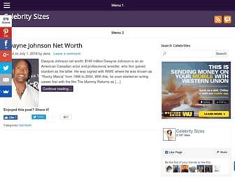 Thumbshot of Celebritysizes.com
